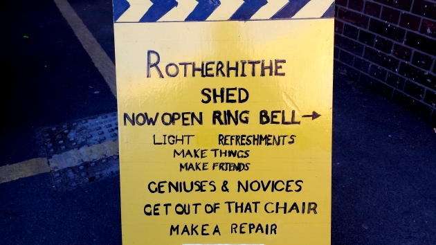 Rotherhithe Shed sign