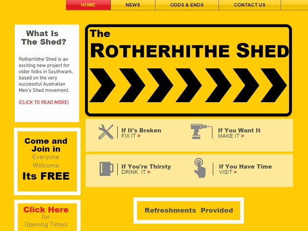 Rotherhithe Shed website