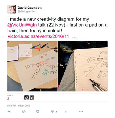 Tweet of diagram-making